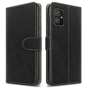 For Asus Zenfone 8 ZS590KS Case, Leather Wallet Stand Phone Cover + Screen Glass