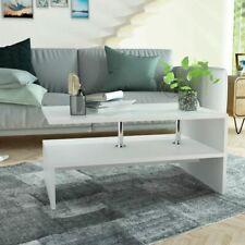 Vidaxl Tavolino da Caffè in truciolato 90x59x42 cm Bianco tavoli