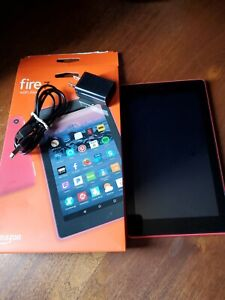 """Fire 7 Tablet (7"""" display, 8 GB)  Red  (7th Gen)SR043KL Case Signed by Authors"""