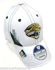 Jacksonville Jaguars NFL Reebok Sideline Hat Cap Stitched White Pro Shape Fitted