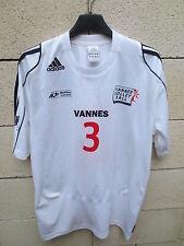 Maillot porté n°3 VANNES Volley Ball Adidas shirt blanc Bretagne S maglia