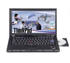 "Lenovo THINKPAD T400 Core 2 Doppio P8600 2,4GHZ,4GB RAM, 100 GB SSD 14 """