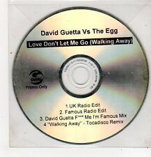 (FF296) David Guetta Vs The Egg, Love Don't Let Me Go - DJ CD