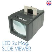 PHOTOLUX SV-2 LED Daylight Desktop Slide Viewer 2x Magnification for 35mm Slides