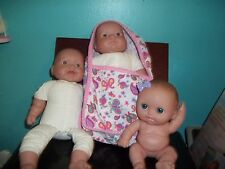 LOT OF THREE BERENGUER DOLLS, DIFFERENT EXPRESSIONS