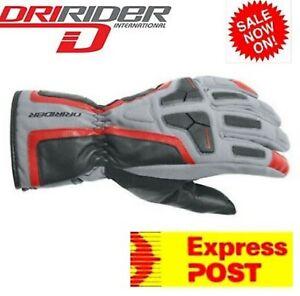 DRIRIDER JET Waterproof Motorcycle Gloves New! Dry Rider Winter Mens Road