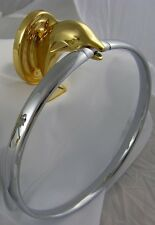 Dolphin Chrome and Brass Towel Ring Free Ship Bath Accessory DTR-CK AllBrass