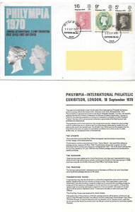 GB 1970 Philympia FDC Southend FDI Postmark