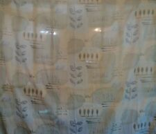 Famous Home Fashions Leaf pattern yellow green blue fabric shower curtain 72x70