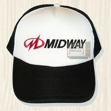 Midway Logo Trucker Hat Mortal Kombat Ms Pac-Man Tron NBA Jam Cap Embroidered