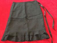 Damen Tulpen-Rock mit Volant H&M schwarz gefüttert Größe 38