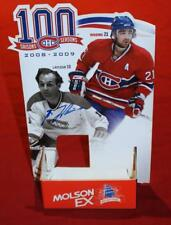 2008 Centennial 100 Year Canadiens Pocket Schedule Display Signed by Guy Lafleur