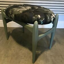 Mid Century Modern stool G Plan Era Fern floral  Hackney House Fabric