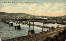 Beaver Falls PA 10th St. Bridge c1910 Postcard