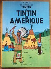 TINTIN EN AMERIQUE CASTERMAN HERGE 1966