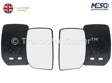 A PAIR OF DOOR WING MIRROR GLASS FORD TRANSIT MK6 MK7 2000-2014 RIGHT & LEFT