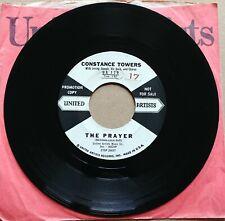 "THE PRAYER Constance Towers/Good Luck 45 7"" Record POP DJ PROMO Vinyl Records"