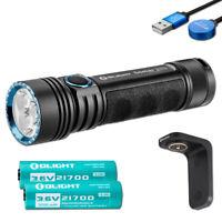 Olight Seeker 2 Pro 3200 Lumen Rechargeable Flashlight w/ 2x Batteries & Charger
