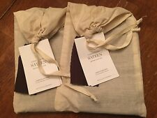 Restoration Hardware Pair of Garment Dyed Sateen Lumbar Shams Chocolate New!