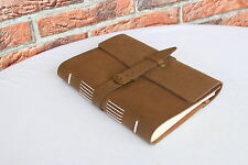 VINTAGE Echtes Leder A5 Lederbuch Tagebuch Notizbuch LEATHER Notebook Journal