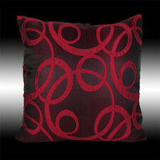 ABSTRACT ELEGANT BURGUNDY DECORATIVE THROW PILLOW CASE CUSHION COVER 17""