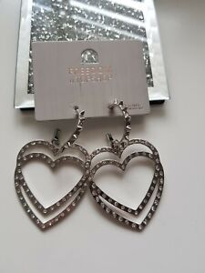 Freedom At Topshop Heart Earrings