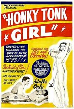 Honky Tonk Girl 1937 Vintage Adult Film Cinema Movie Poster Print Picture A4