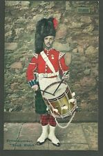 Unused Pre 1920 Postcard Kettle Drummer Black Watch Britain British Manufacture