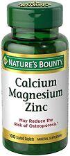 Natures Bounty Calcium Magnesium Zinc Caplets 100 Caplets