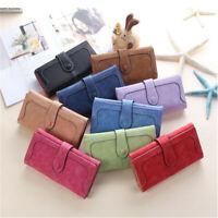 Multi-Color Women PU Leather Clutch Wallet Long Card Holder Purse Box Handbag