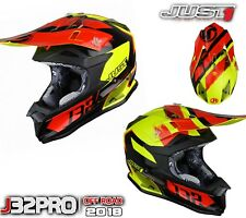 CASCO OF ROAD CROSS ENDURO MOTARD JUST1 J32 Pro Kick Black-Red-Giallo TG M