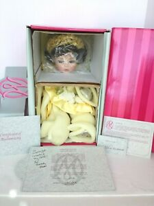 NEW NRFB MARIE OSMOND YELLOW ROSE OF TEXAS PORCELAIN DOLL COA#1008 + AUTOGRAPHED