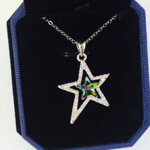 Made with Swarovski® Crystals Star Pendant Necklace Crystal Jewellery Vitrail M