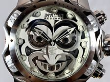 Invicta Reserve Venom DC Comics Joker Silver-tone Steel 52mm Swiss MVT Watch