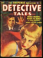 DETECTIVE TALES 1952 FEB-GGA COVER-GREAT PULP-very good VG