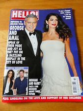 HELLO MAGAZINE UK #1471 March 6th 2017 George Clooney Amal Prince Harry & Meg