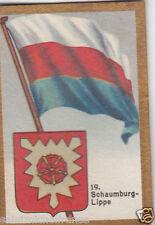 Deutschland Germany Schaumburg Lippe DRAPEAU FLAG IMAGE CARD 30s