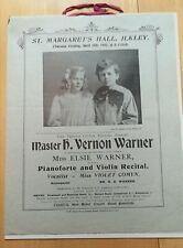 1902 Child prodigy concert programme