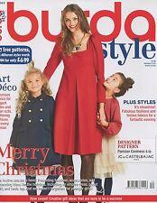 Burda Style Magazine 12/2014 fashion sewing MERRY CHRISTMAS