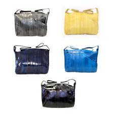 Set of 5 Lee Sands Eelskin Front Pocket Hobo Bags Assorted Colors