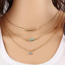 New Pendant Gold Chain Choker Chunky Statement Bib Collar Necklace Jewelry HOT