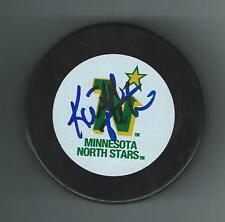 Keith ACTON Signed MINNESOTA NORTH STARS Puck