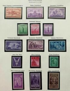 1940-3 US Stamps Commemorative Year Set of 15, SC #894-908, 906