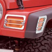 For Jeep Wrangler Tj 97-06 New Billet Stone Guard Set Black  X 11236.21