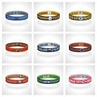 Reversible NFL Teams Bracelet Elastic Stretch Bracelet NFL Wristband