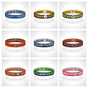 Reversible NFL Teams Bracelet Elastic Stretch Bracelet NFL Wristband