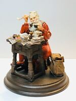 Rare Saturday Evening Post Norman Rockwell  - Santa Reading Letters Statue