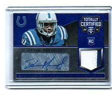 DONTE MONCREIF  AUTOGRAPH PATCH RC #/50 2014 TOTALLY CERTIFIED COLTS