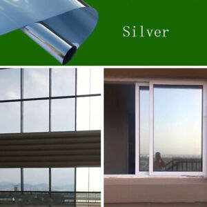 One-way Glass Self Adhesive Mirror window Film DIY Reflective Insulated Foil PET