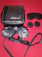 Jason Graphite 234R Empire 7 X 25 Binoculars w/ Case & Lens Covers